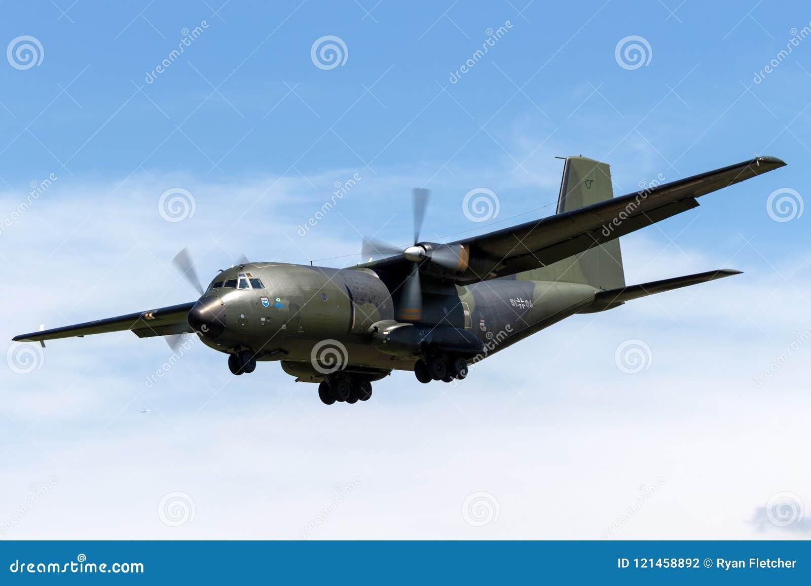 German Air Force Luftwaffe Transall C-160D Twin Engine Military