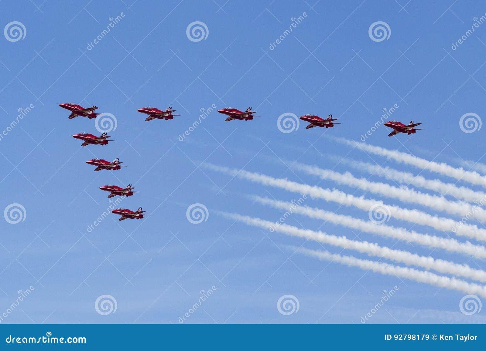 RAF Red Arrows in BAE Hawk T1 trainers