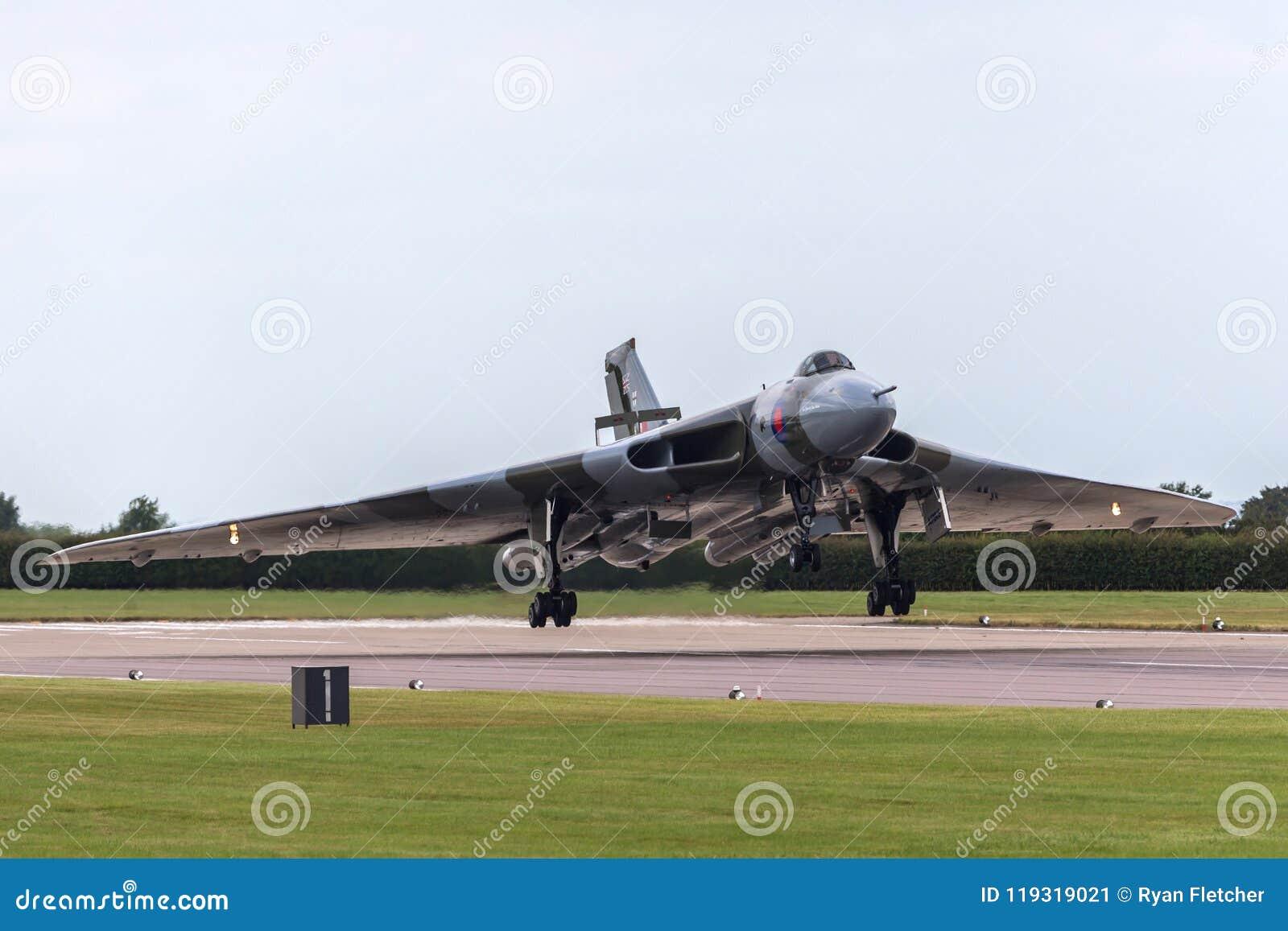 Former Royal Air Force RAF Avro Vulcan B 2 Bomber Aircraft
