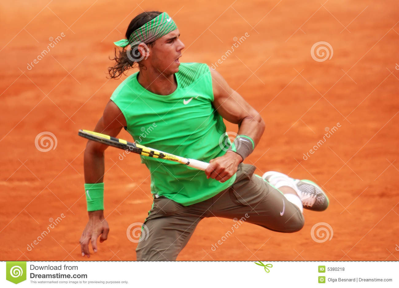 Rafael Nadal de l Espagne chez Roland Garros