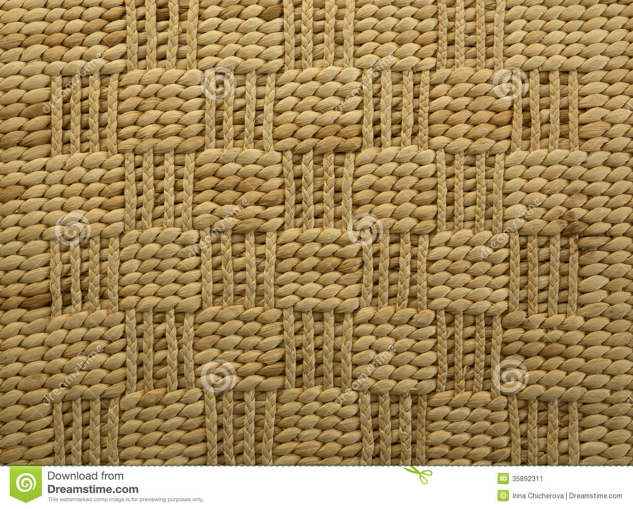 Raffia Rug Backgrounds Stock Image Image Of Yellow