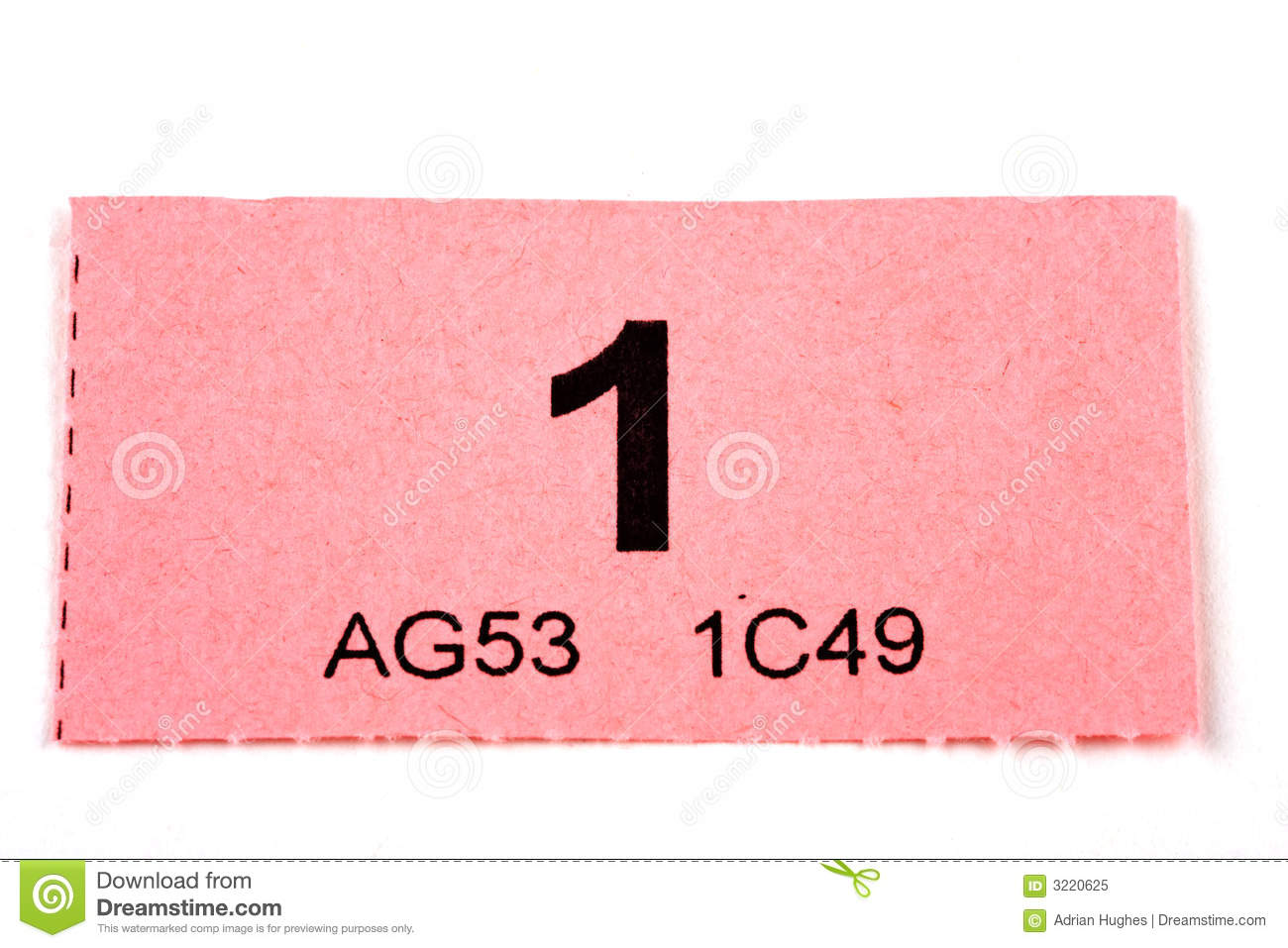 raffle ticket number stock photos images pictures images raffle ticket number 1 royalty stock photo
