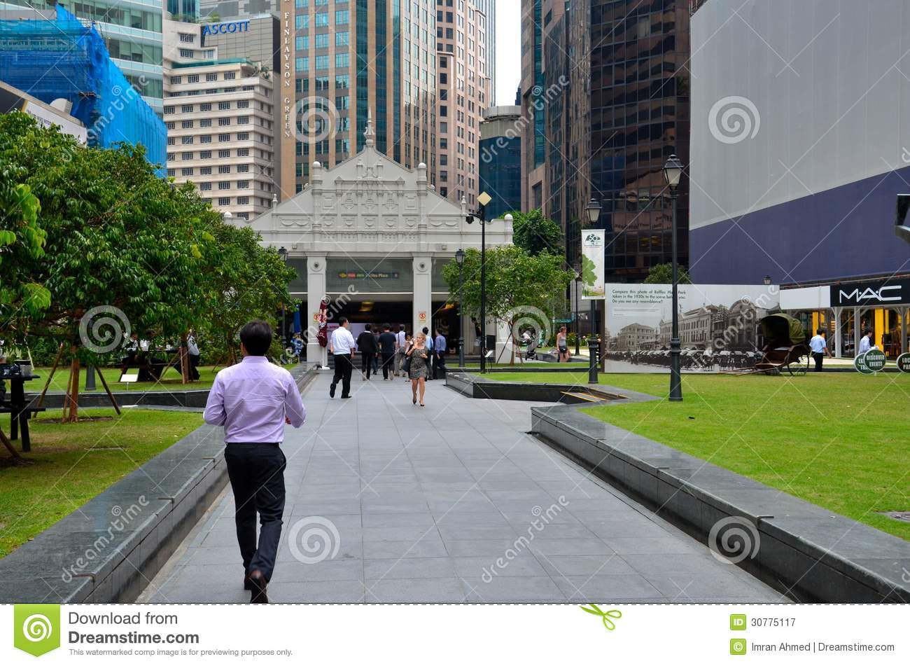 Raffles place central business district cbd singapore editorial raffles place central business district cbd singapore entrance steps reheart Image collections