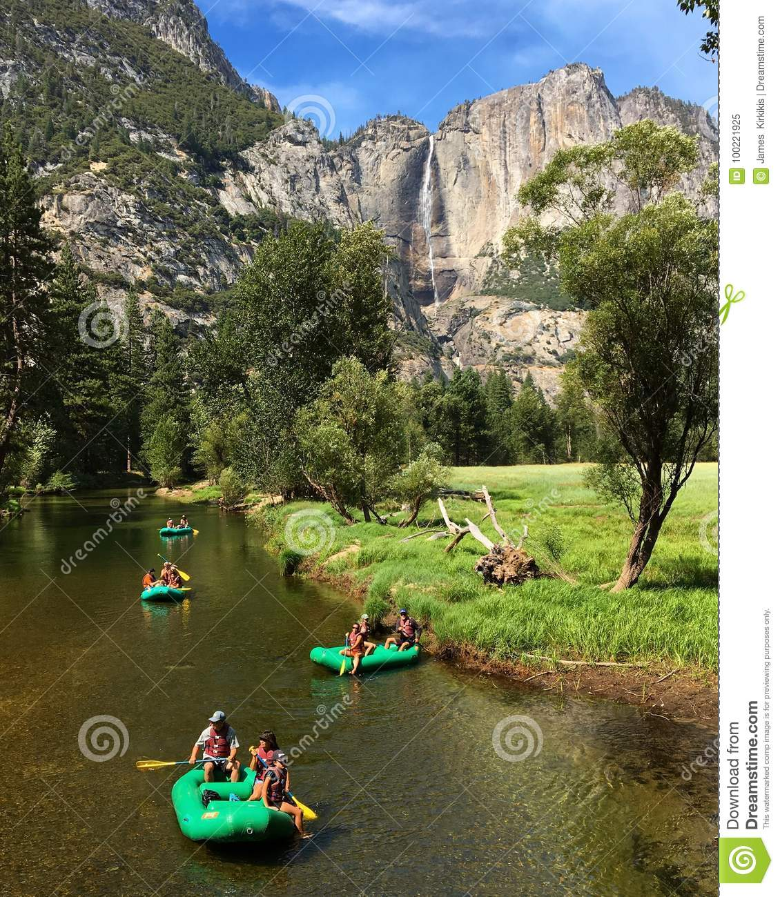 River Rafting Yosemite National Park: Rafting On The Merced Editorial Image. Image Of Excitement