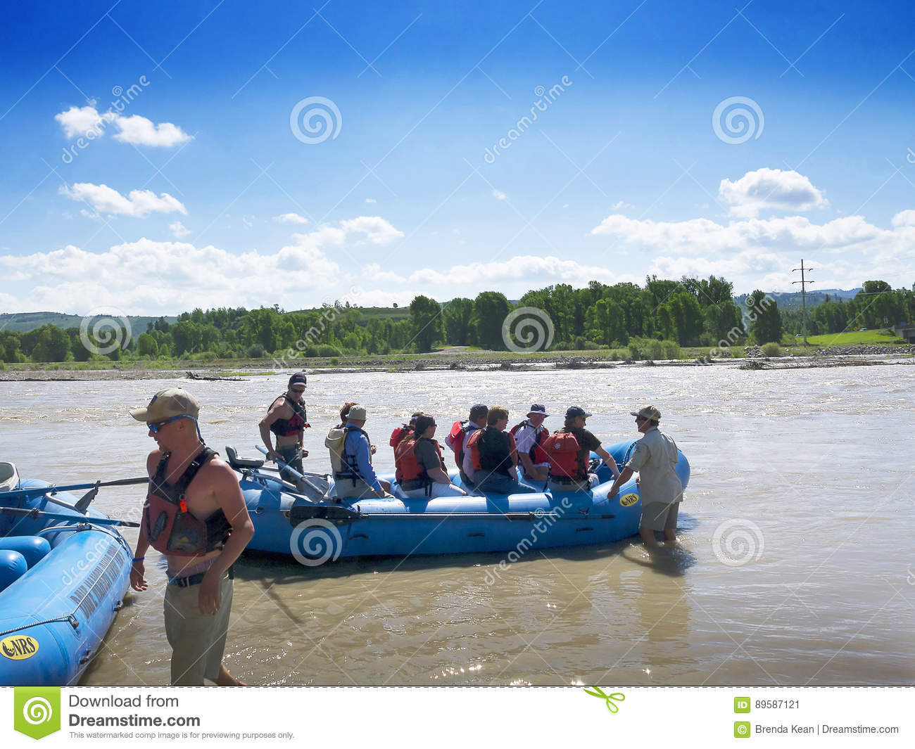 Rafting on the Snake River in Grand Teton National Park USA