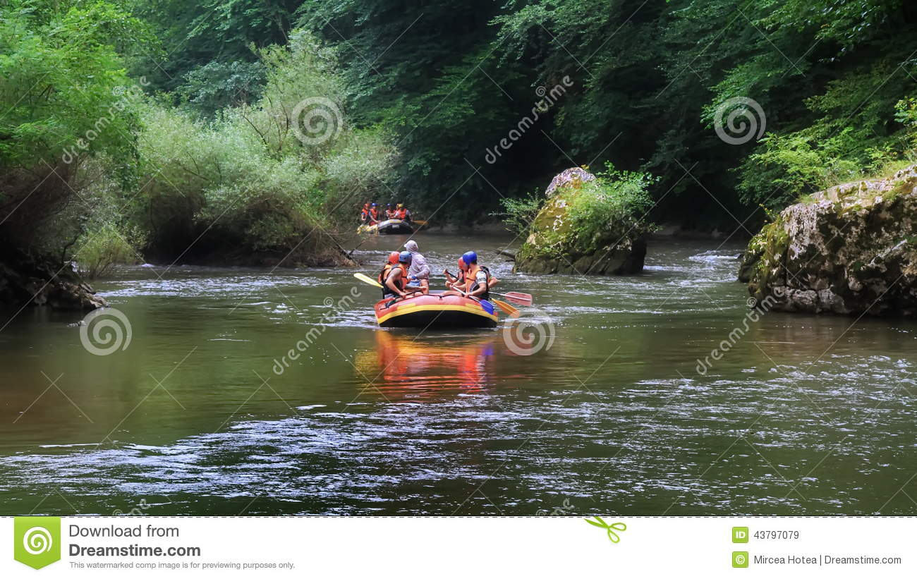 Rafting in a wild gorge