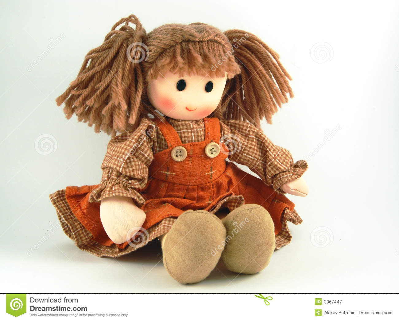 Rag Doll, Fabric Doll Royalty Free Stock Photography - Image: 3367447