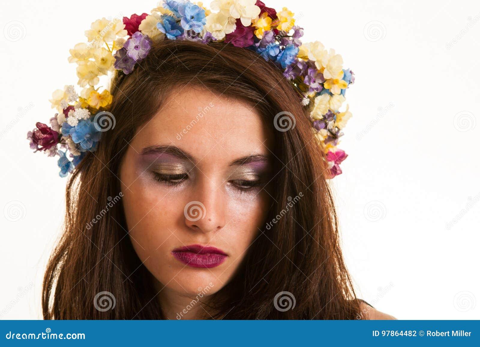 Capelli colorati con ombretti