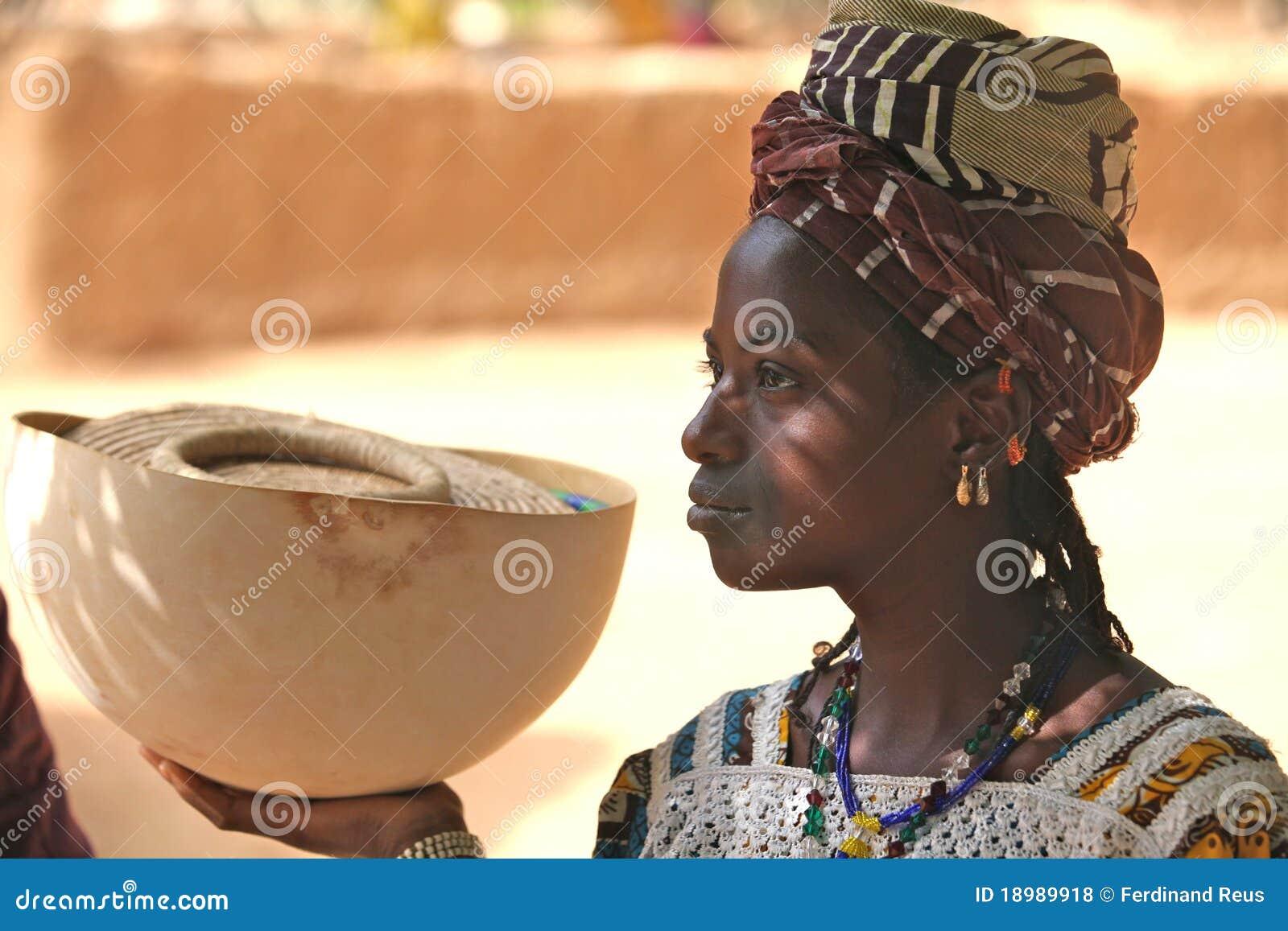 Ragazza in Africa