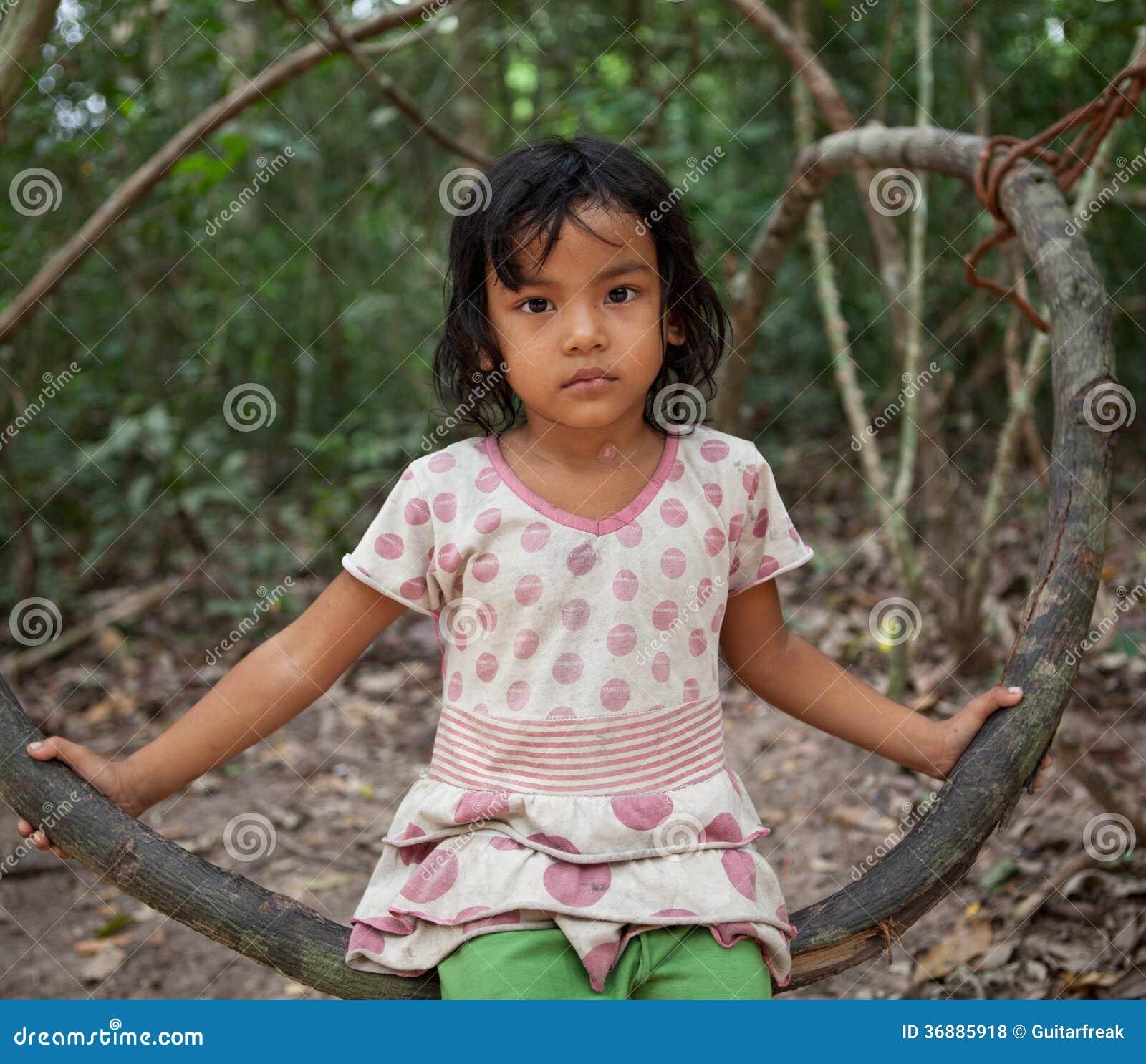 Download Ragazza cambogiana fotografia stock editoriale. Immagine di abbastanza - 36885918