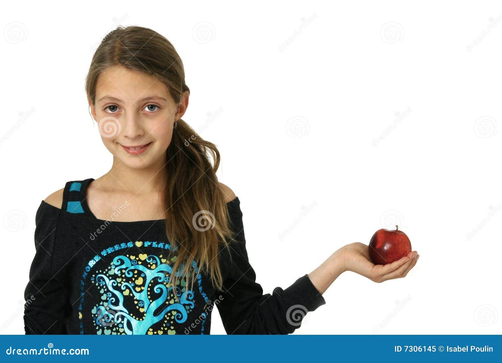 Ragazza con la mela