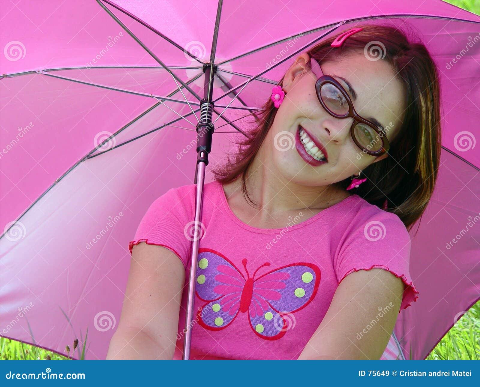 Ragazza dell ombrello
