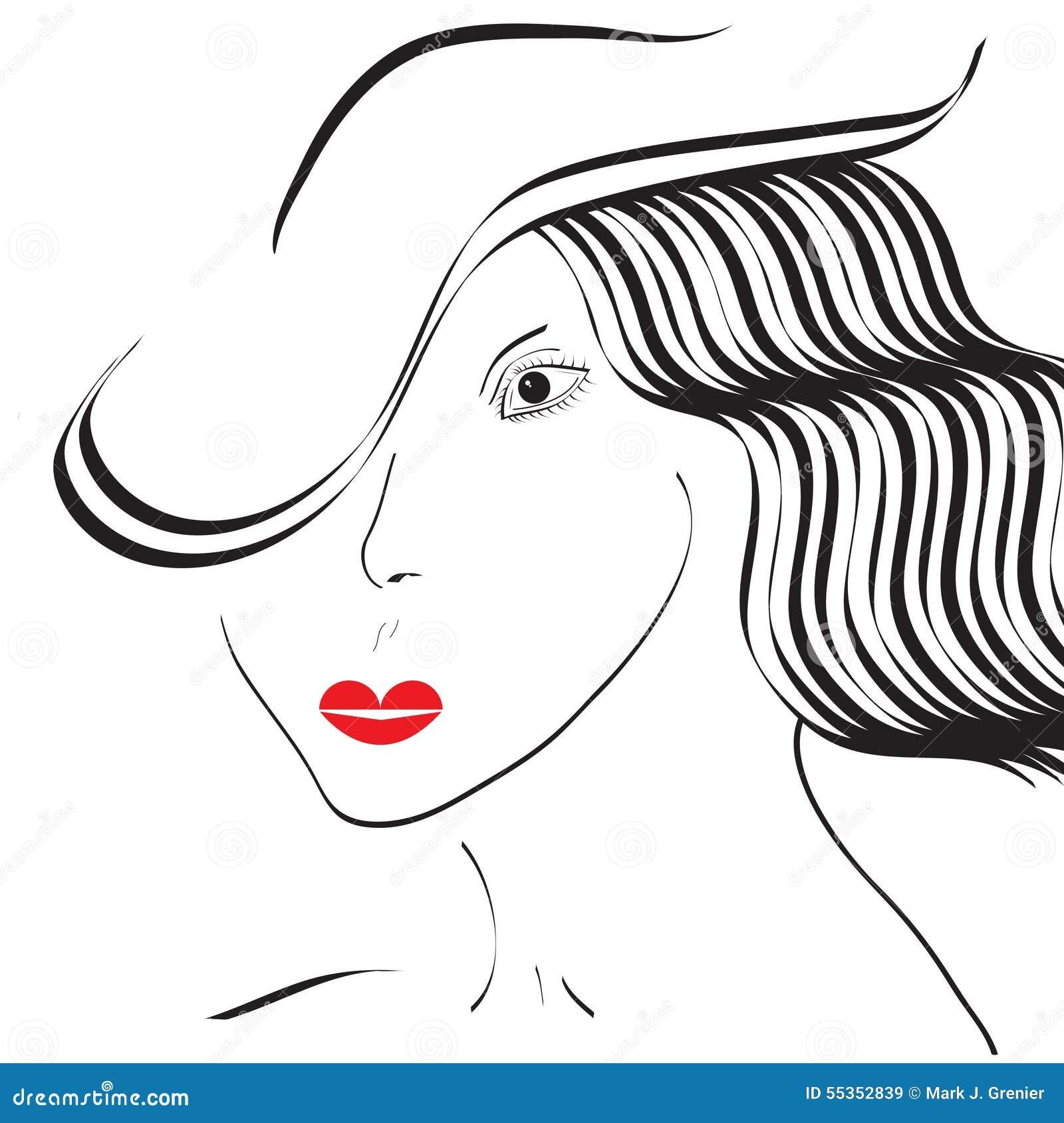 Ragazza di Minimalistic con un cappello