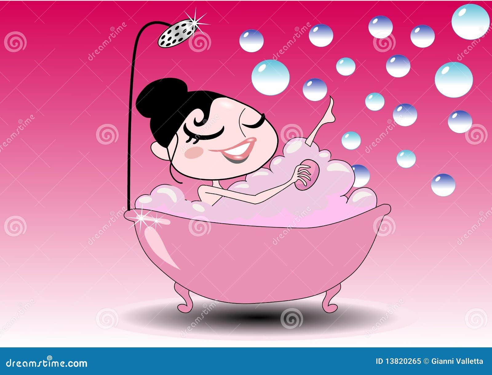 Ragazza nella vasca di bagno fotografia stock libera da - Vasca da bagno libera installazione ...