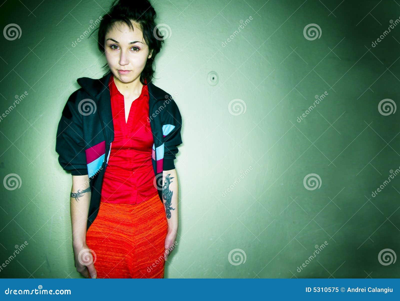 Download Ragazza punk immagine stock. Immagine di gioventù, modo - 5310575