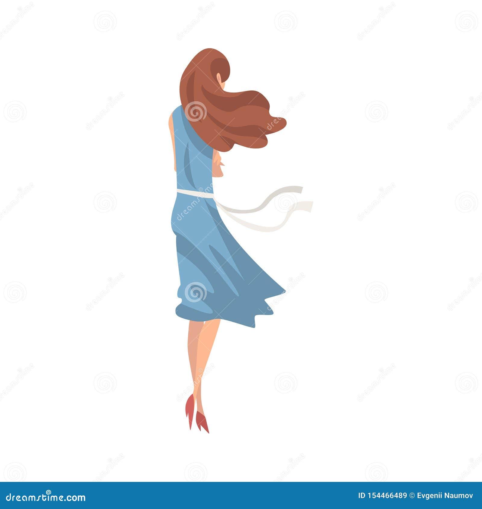 Ragazza sollecitata infelice, adolescente solo e depresso che ha problemi, illustrazione posteriore di vettore di vista