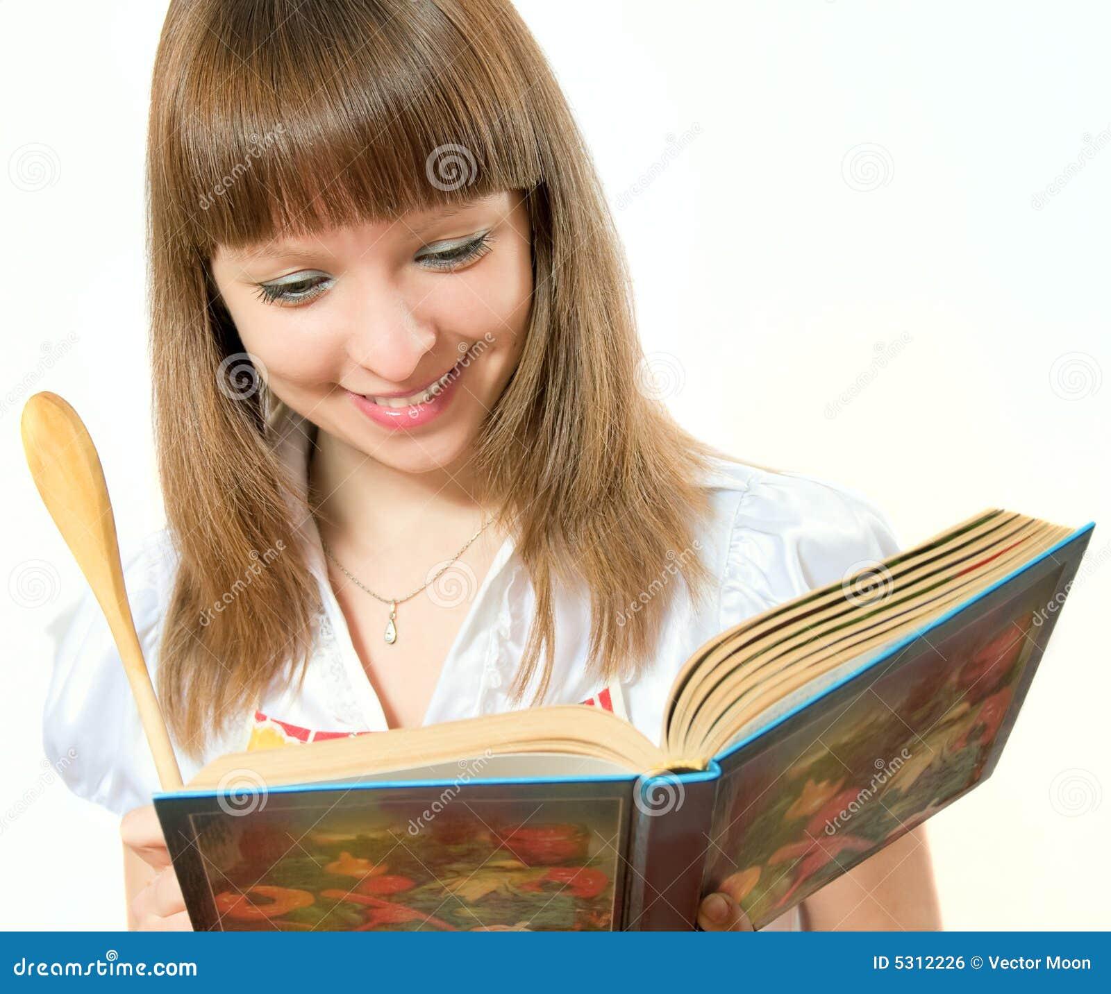 Download Ragazza Sorridente Con Il Libro Fotografia Stock - Immagine di pranzo, sano: 5312226