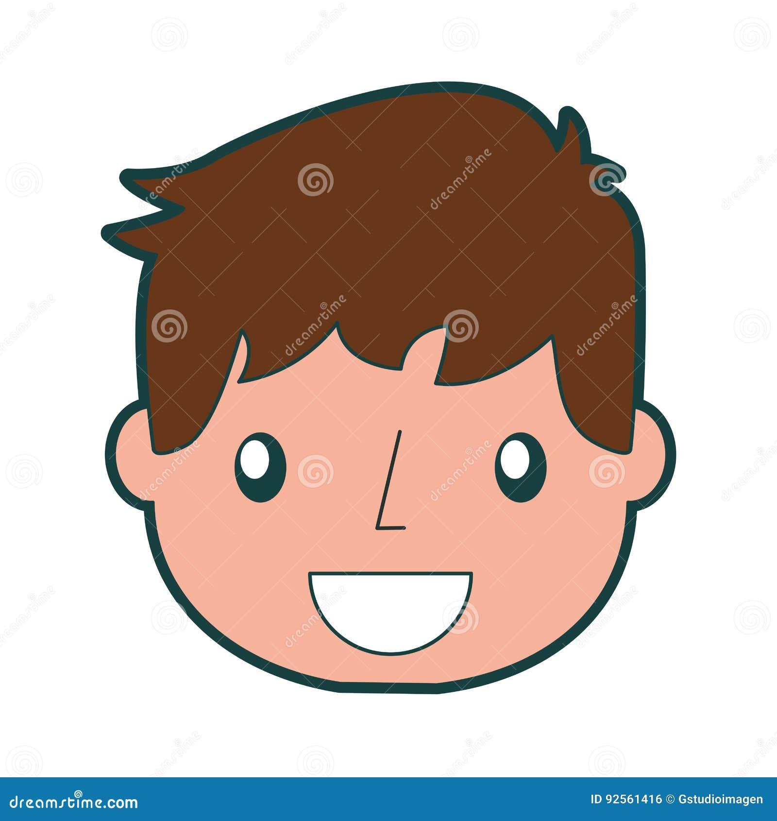 Ragazzo bello sorridente dell icona