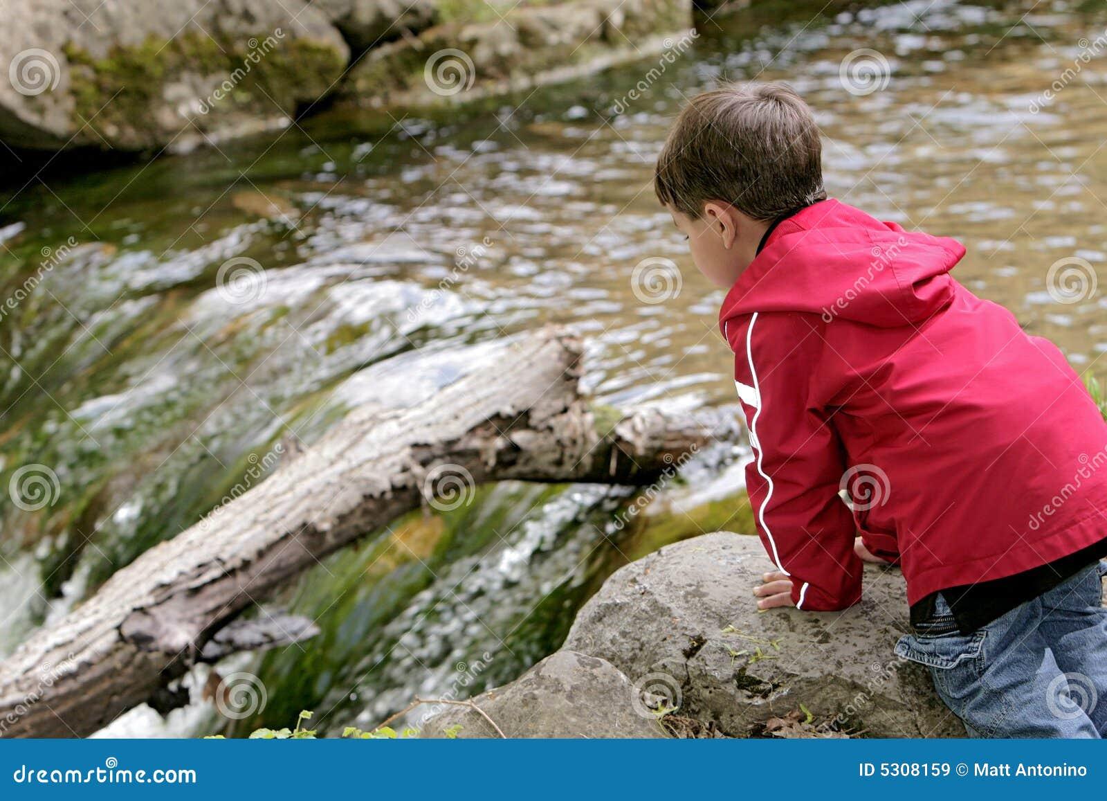 Download Ragazzo Che Gioca Nel Fiume Immagine Stock - Immagine di giovane, felice: 5308159