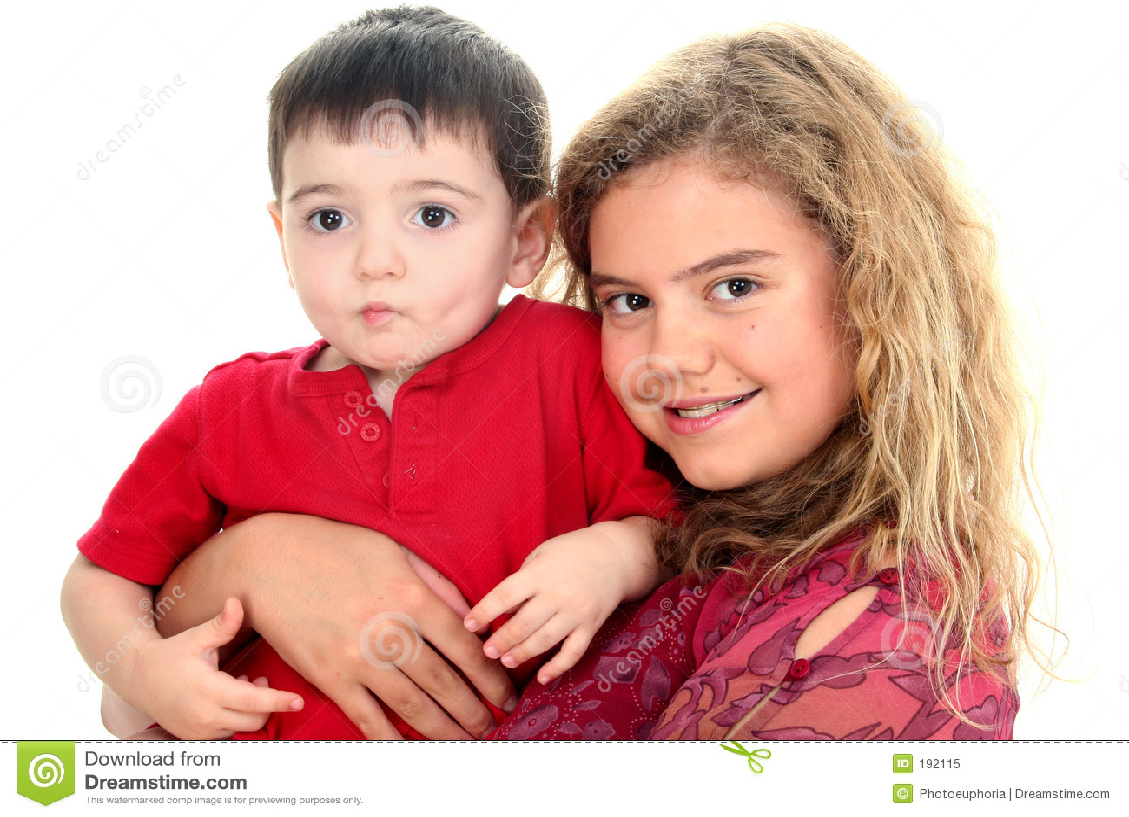 Ragazzo del bambino e della babysitter