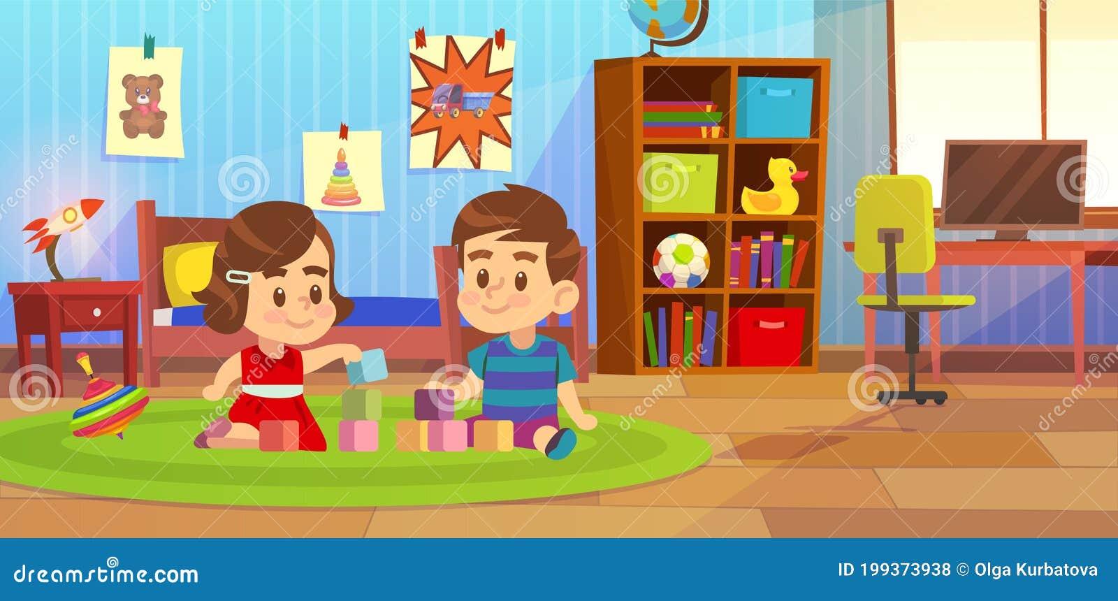 Bambini Che Giocano Un Asilo Illustrazioni Vettoriali E Clipart Stock 413 Illustrazioni Stock