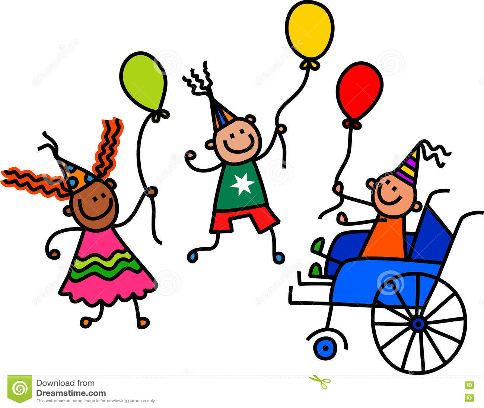Ragazzo disabile della festa di compleanno