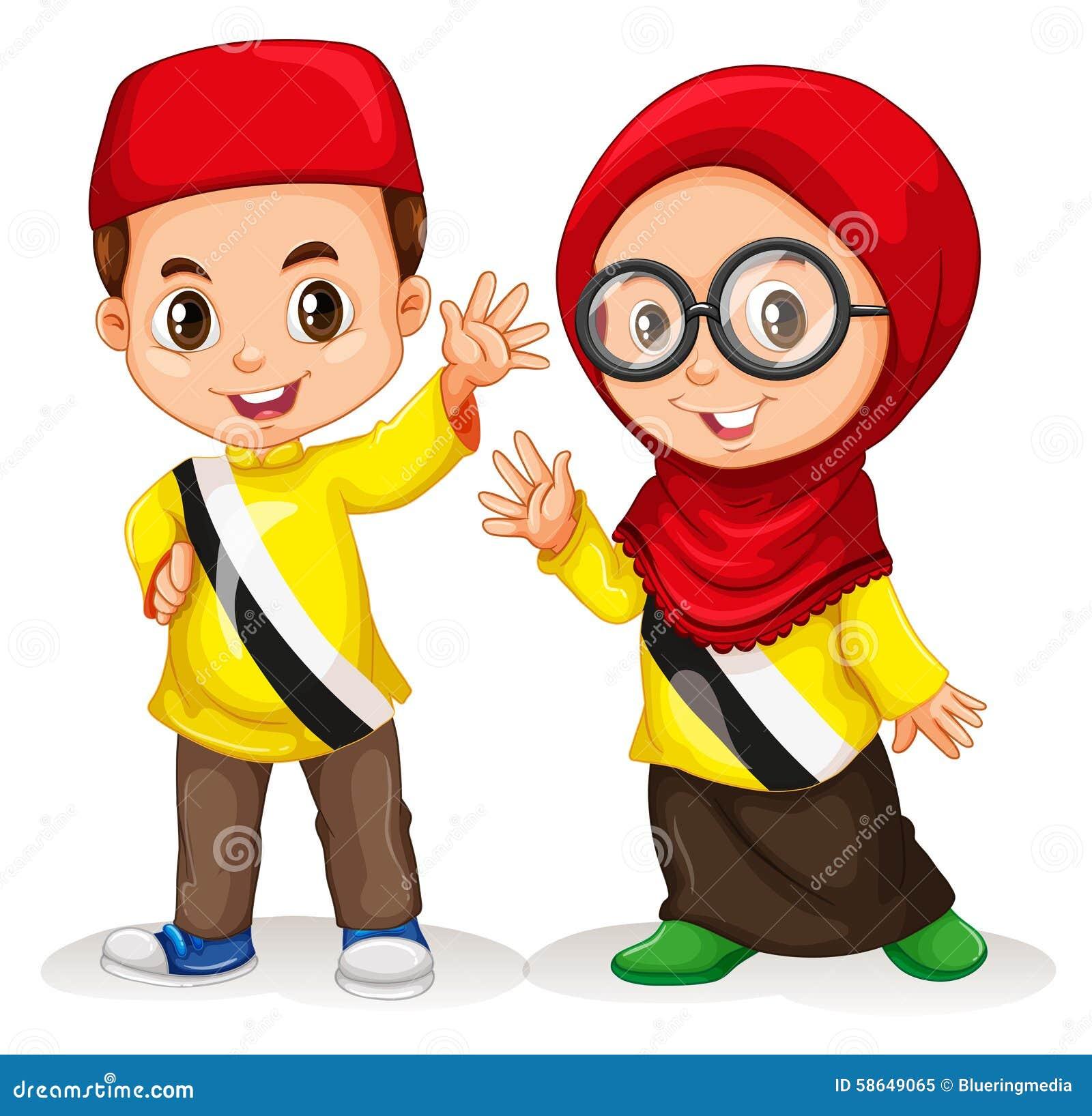 Ragazzo e ragazza dal Brunei
