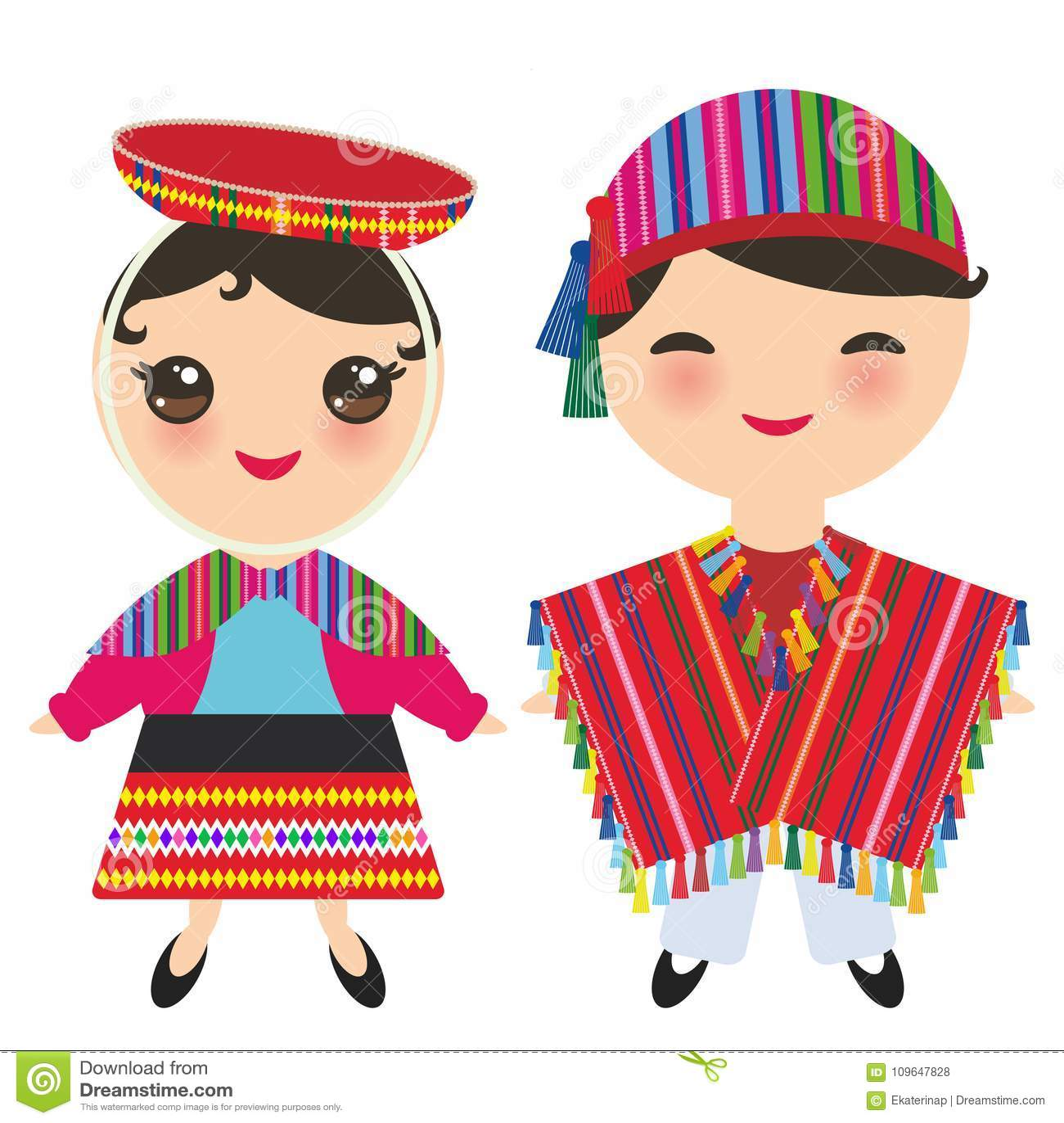 super qualità sezione speciale maggiore sconto di vendita Ragazzo E Ragazza Peruviani In Costume E Cappello Nazionali ...