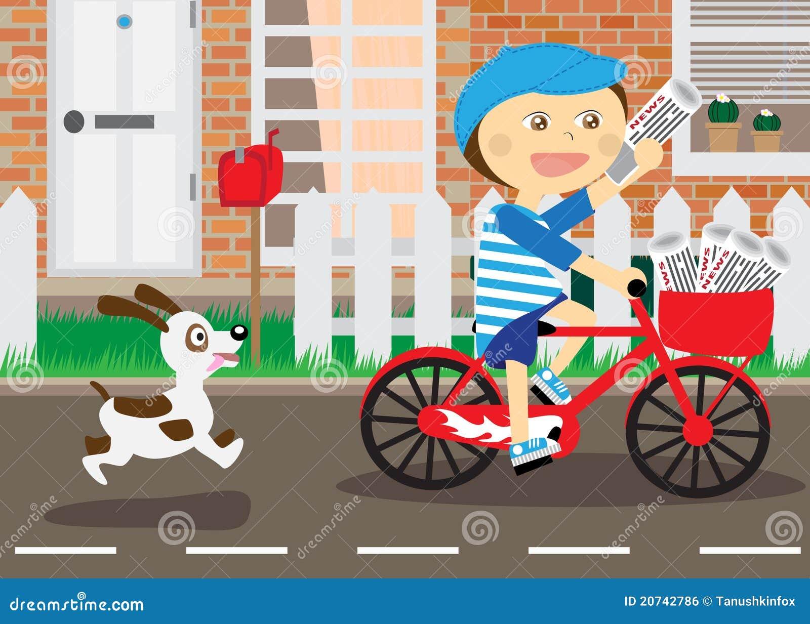 Ragazzo sulla bicicletta messaggero dei giornali for Giornali arredamento casa