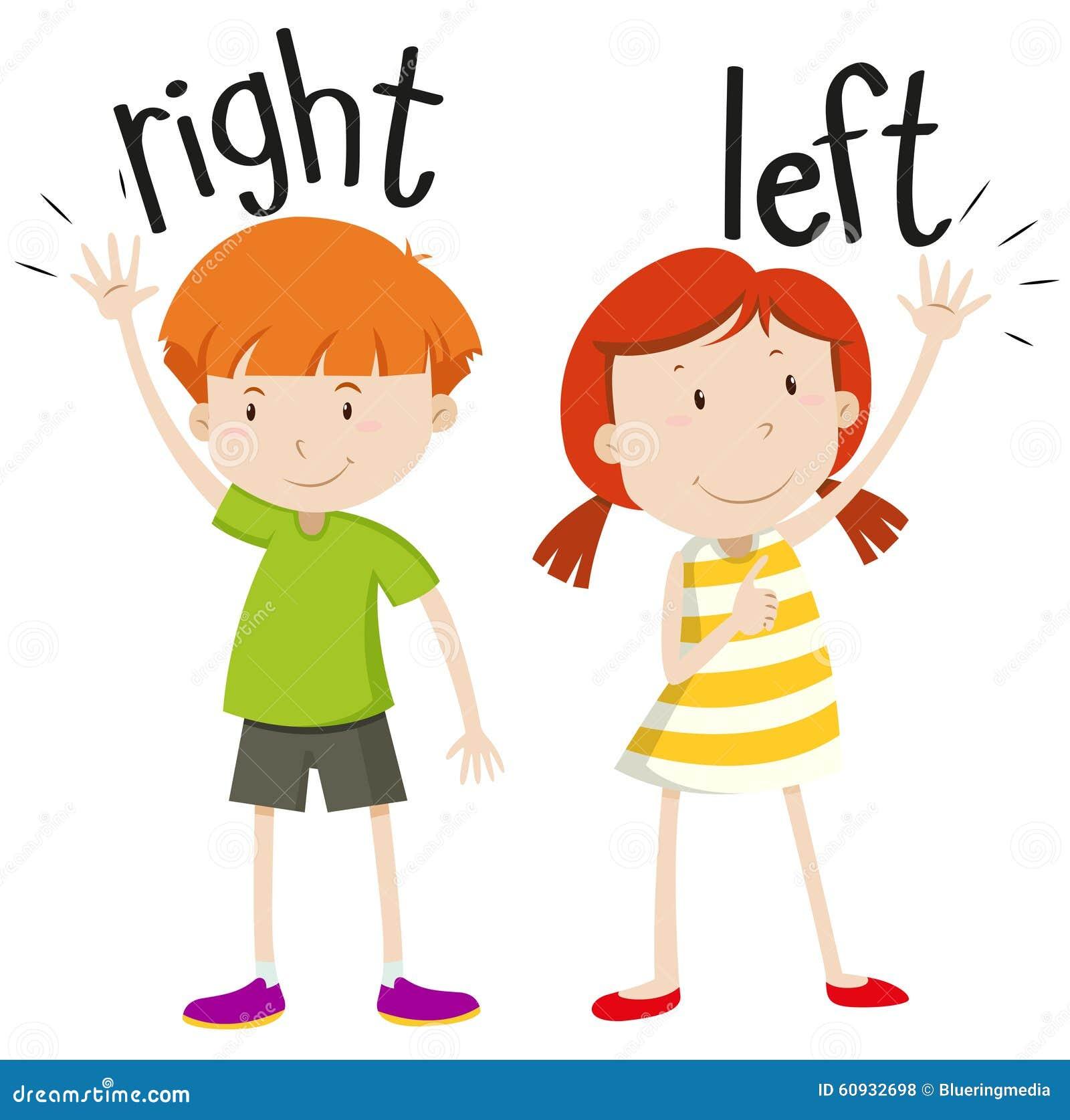 Ragazzo sulla ragazza giusta a sinistra illustrazione di for Right time images