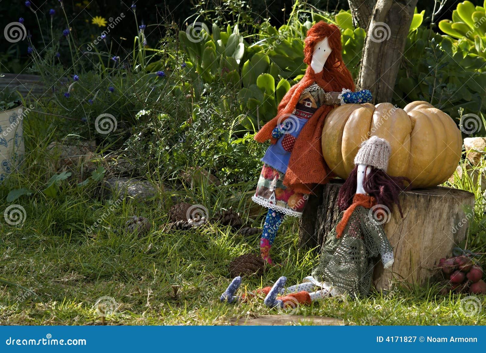 Ragdolls with pumpkin