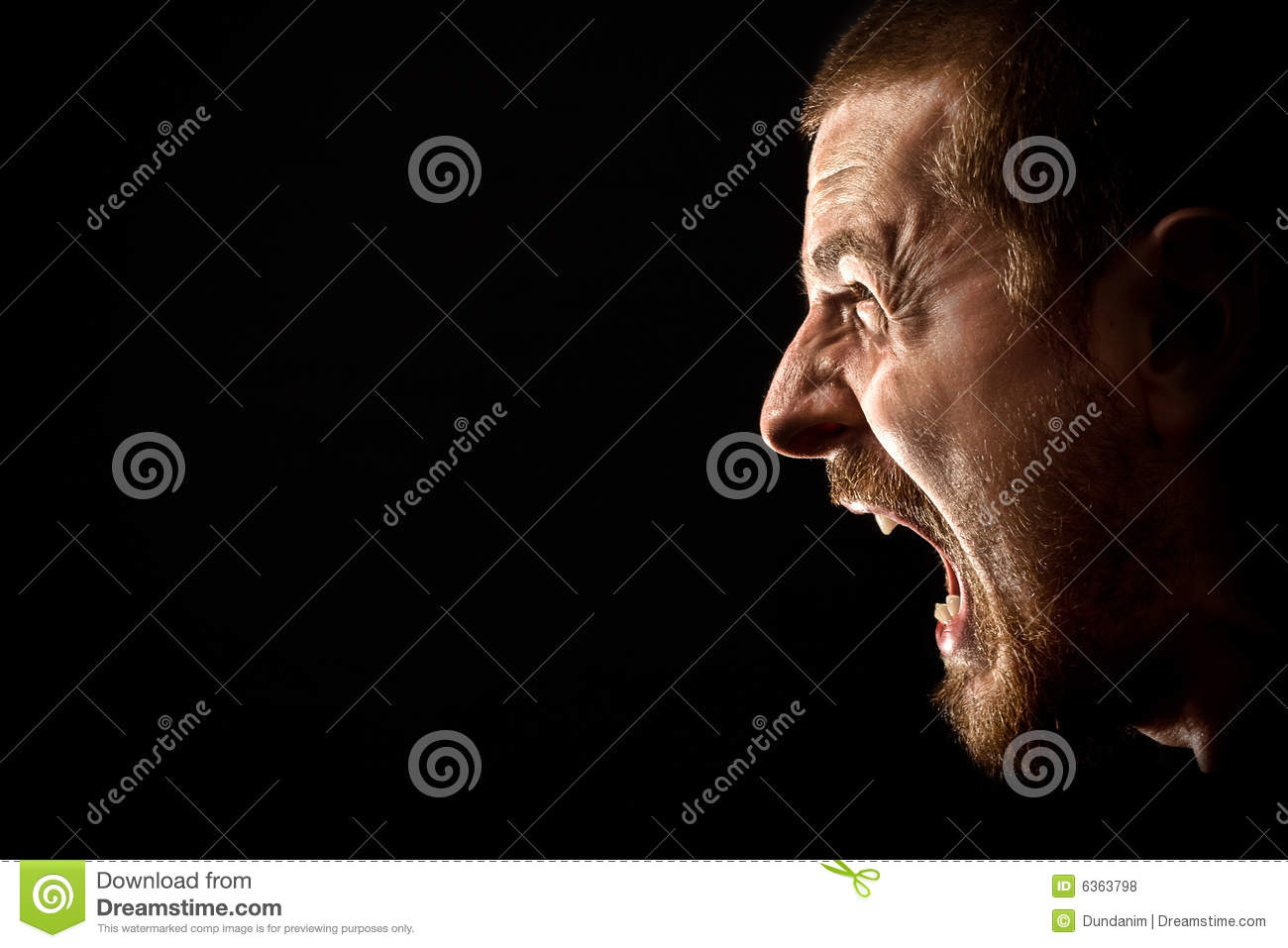 Rage - Scream Of Angry Man Royalty Free Stock Photos ...