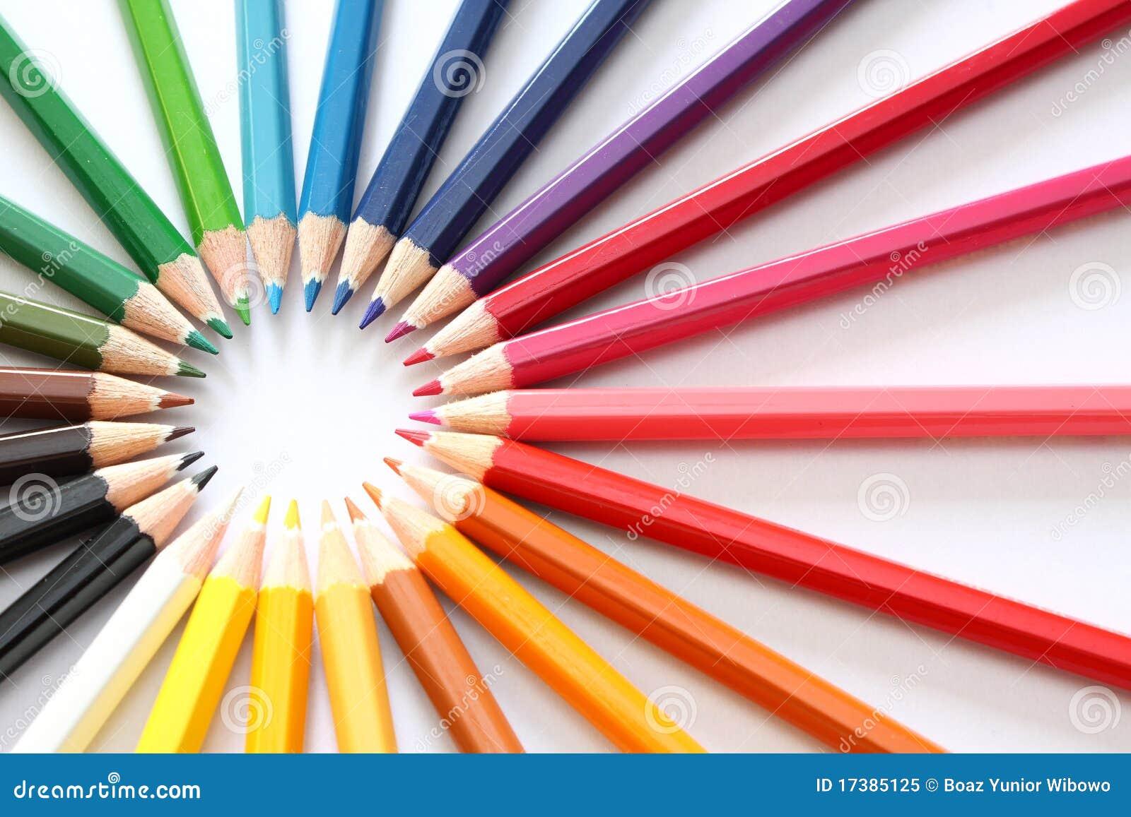 Raggi delle matite di colore