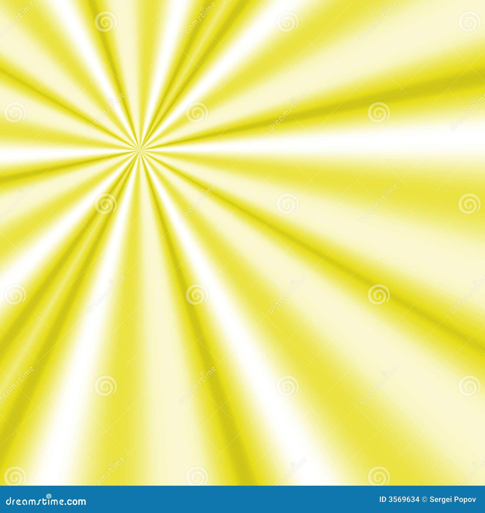 Raggi gialli del sole