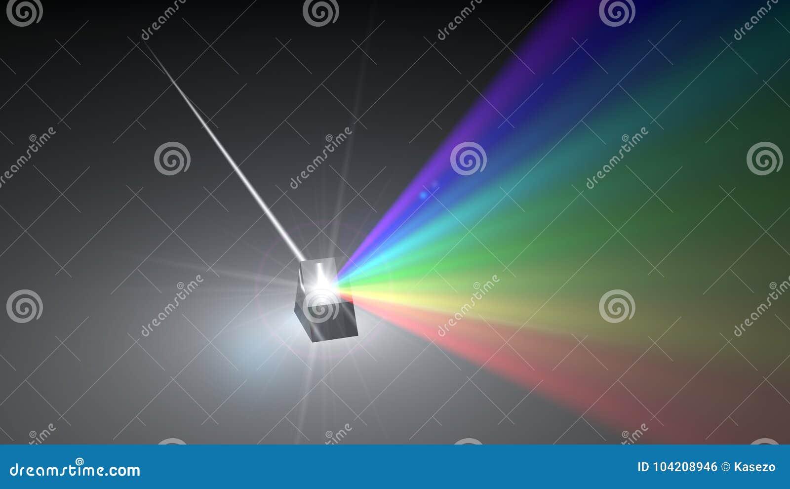 Raggio Luminoso Di Luce Bianca Che Disperde Ad Altro I Raggi