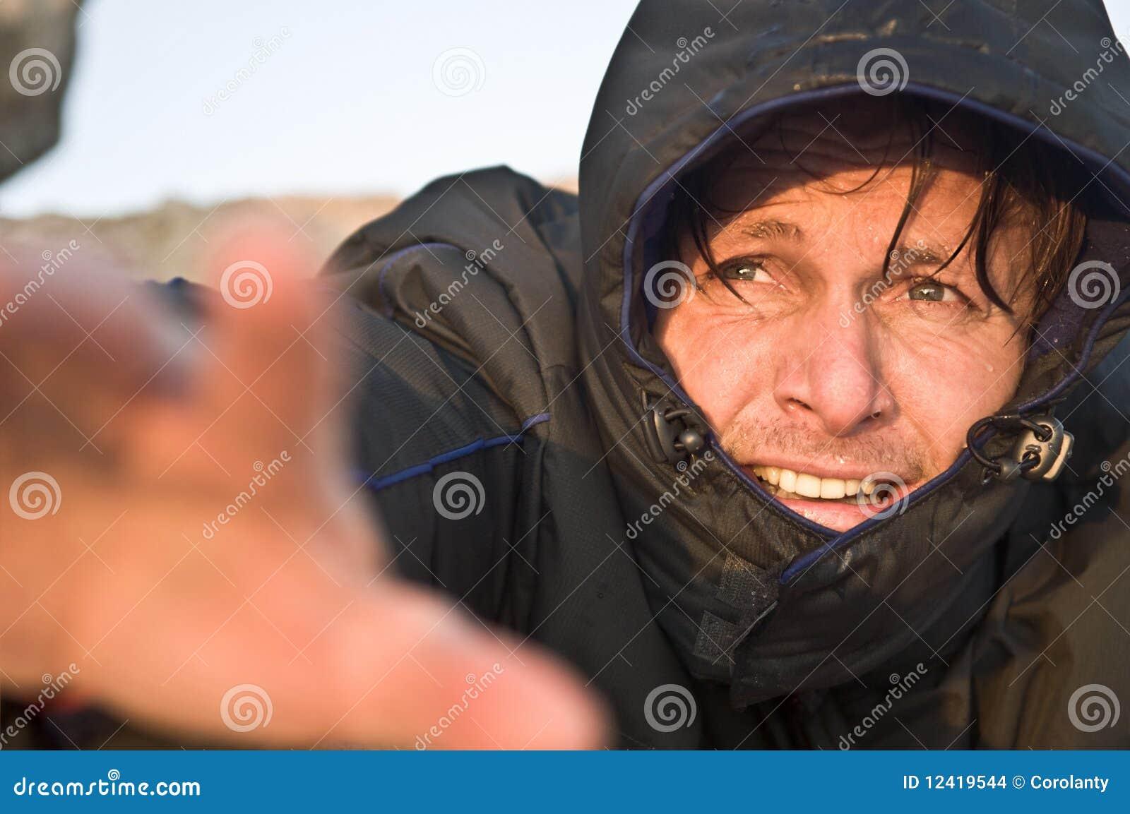 Raggiungimento maschio dello scalatore