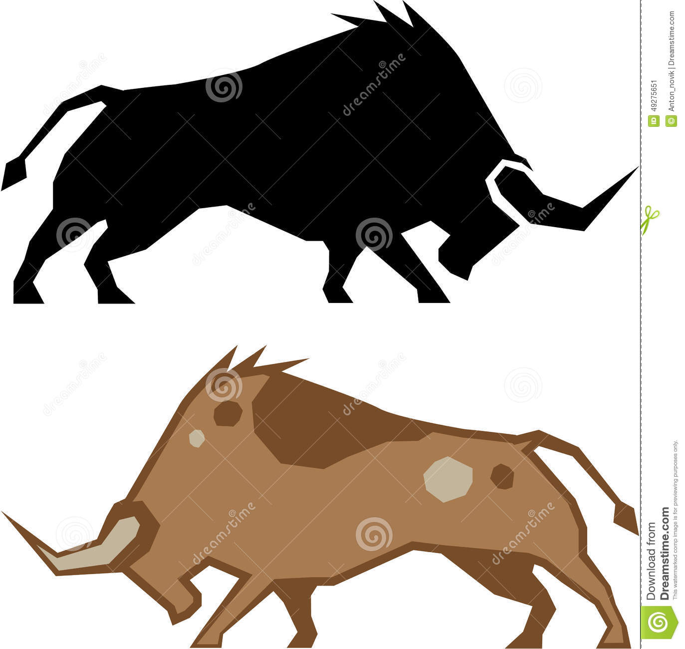 Raging Bull Stock Vector - Image: 49275651