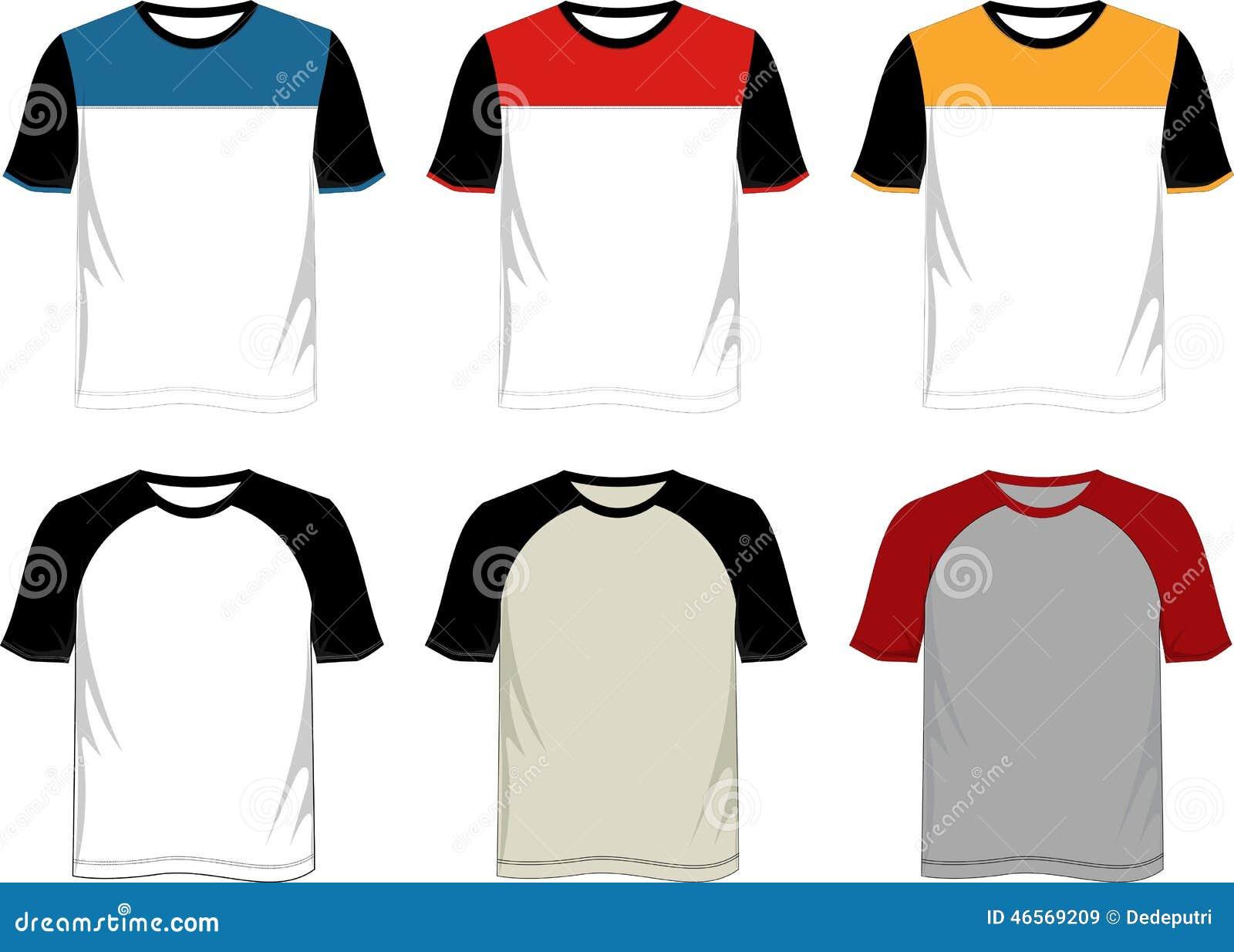 Raglán De La Plantilla De La Camiseta Ilustración del Vector ...