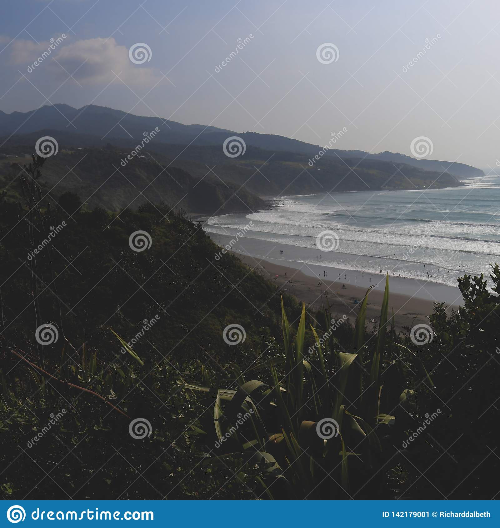 Raglanowa plaża, Nowa Zelandia