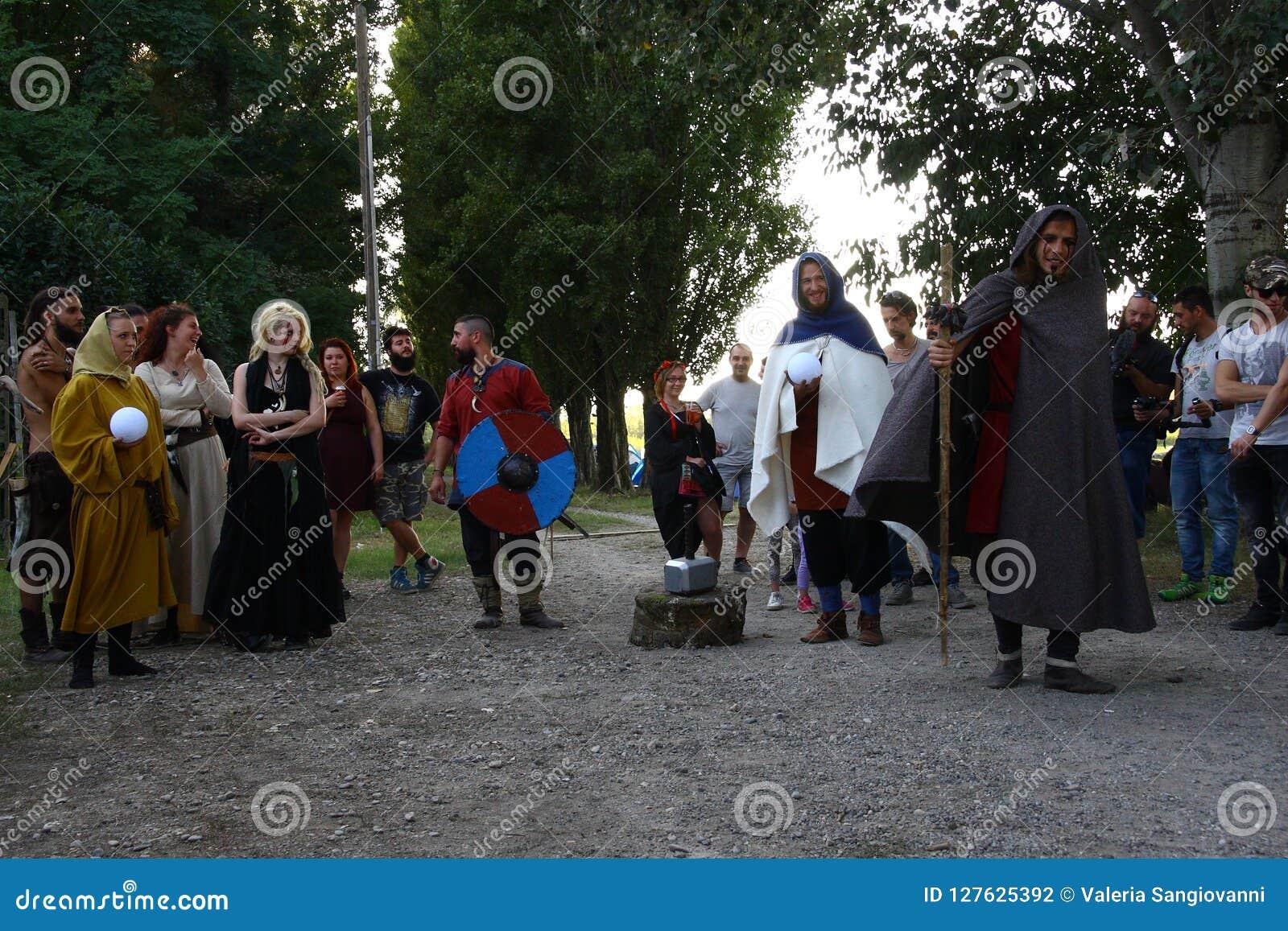 Ragnarok - irmãos de Viking - os 28-30 de setembro de 2018 - ` Adda de Casirate d - BG - Itália