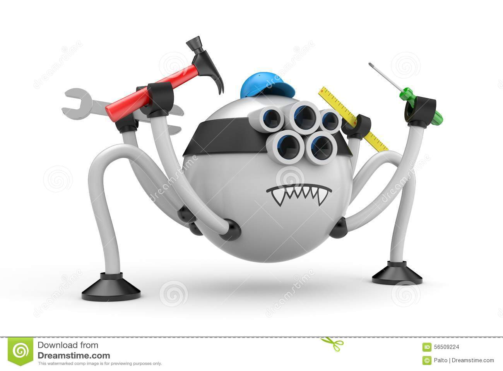 Ragno del robot tuttofare illustrazione di stock illustrazione