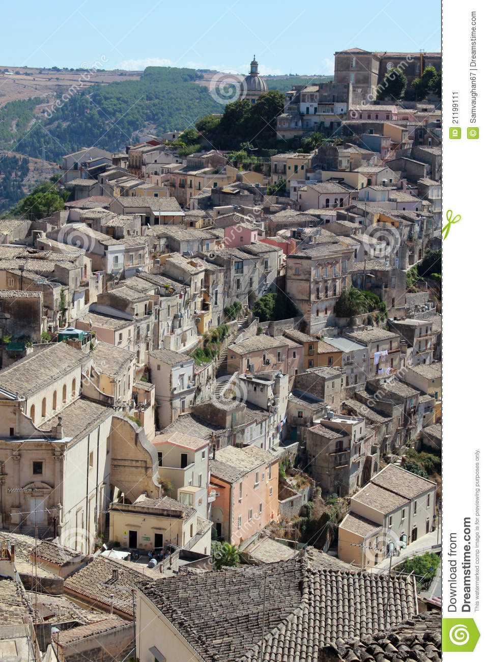 Ragusa Ibla s roof tops viewed from above