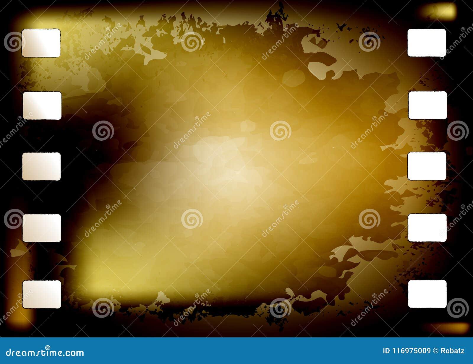 Rahmen des Schmutzfotografischen films gebrannt Alte Weinlese 35 Millimeter Filmhintergrund mit Raum für Text Altes filmstrip Vek