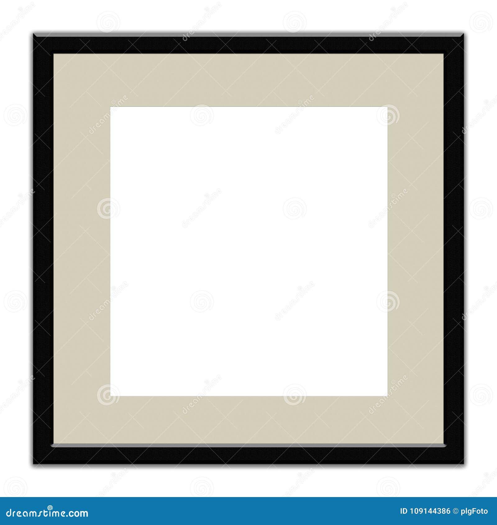 Rahmen Des Schwarzen Quadrats Mit Dem Rand, Zum Einer Fotografie Auf ...