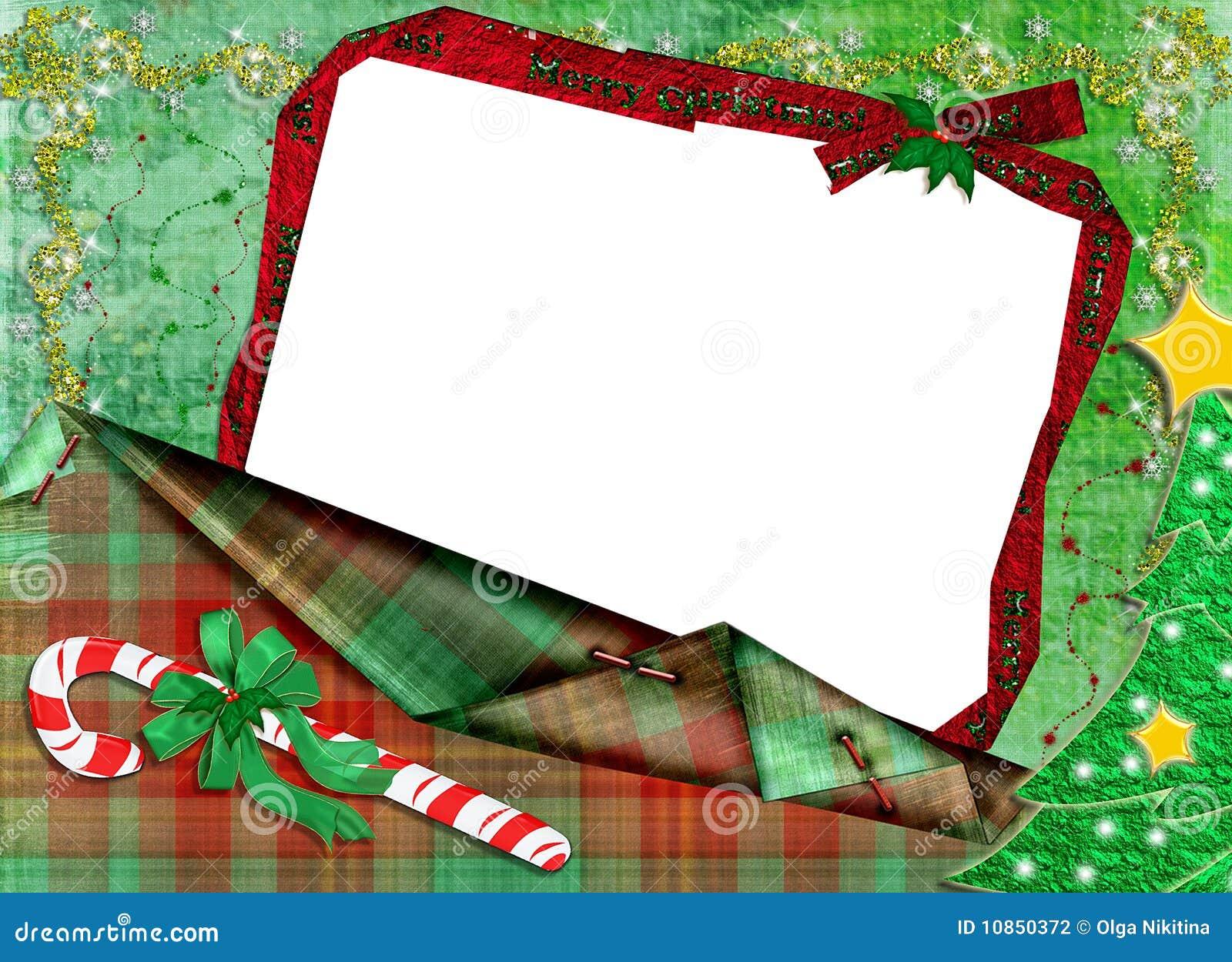 Rahmen Für Ein Foto Für Weihnachten. Stock Abbildung - Illustration ...