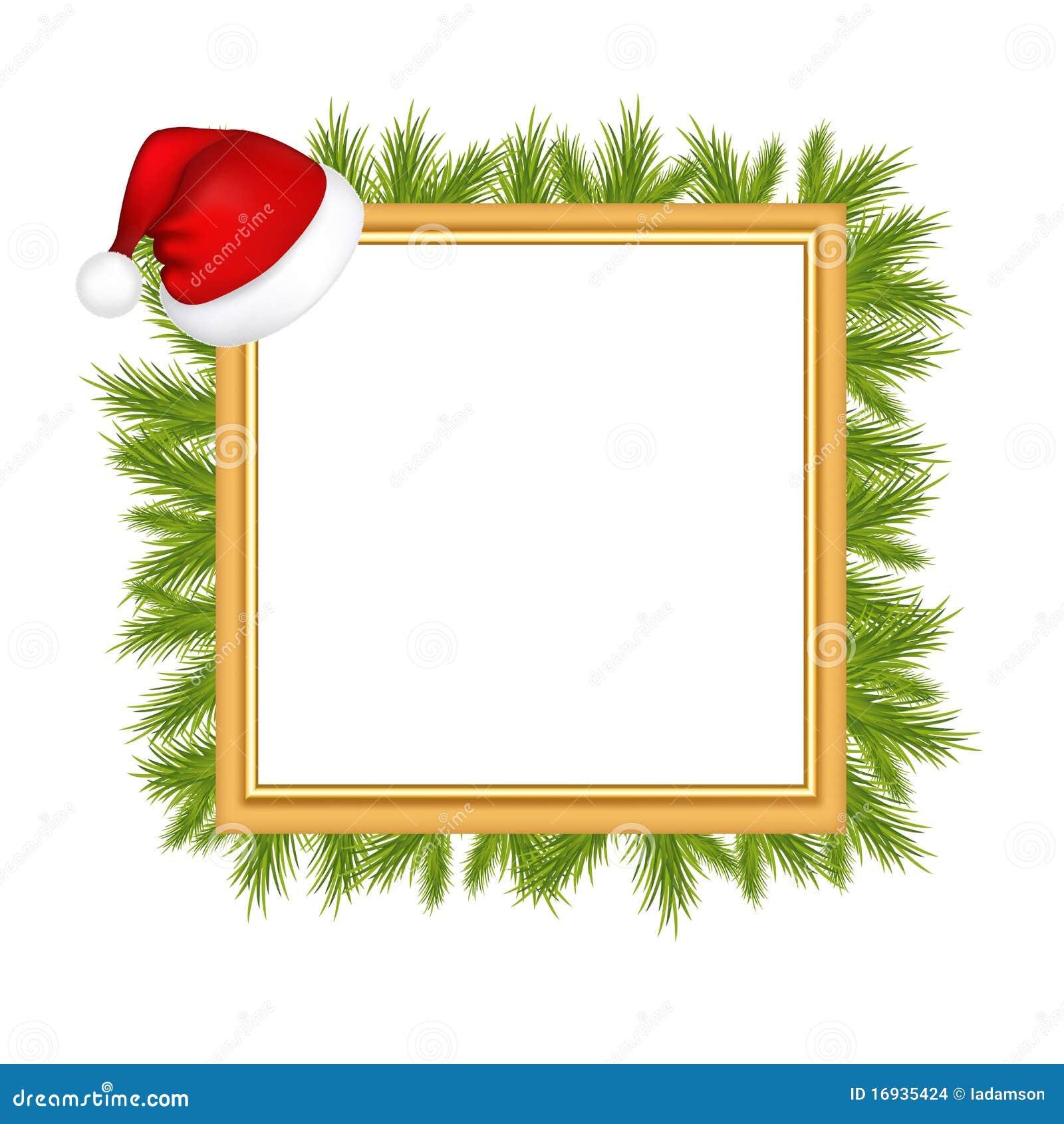 rahmen f r foto mit weihnachtsmann hut vektor abbildung illustration von bild album 16935424. Black Bedroom Furniture Sets. Home Design Ideas
