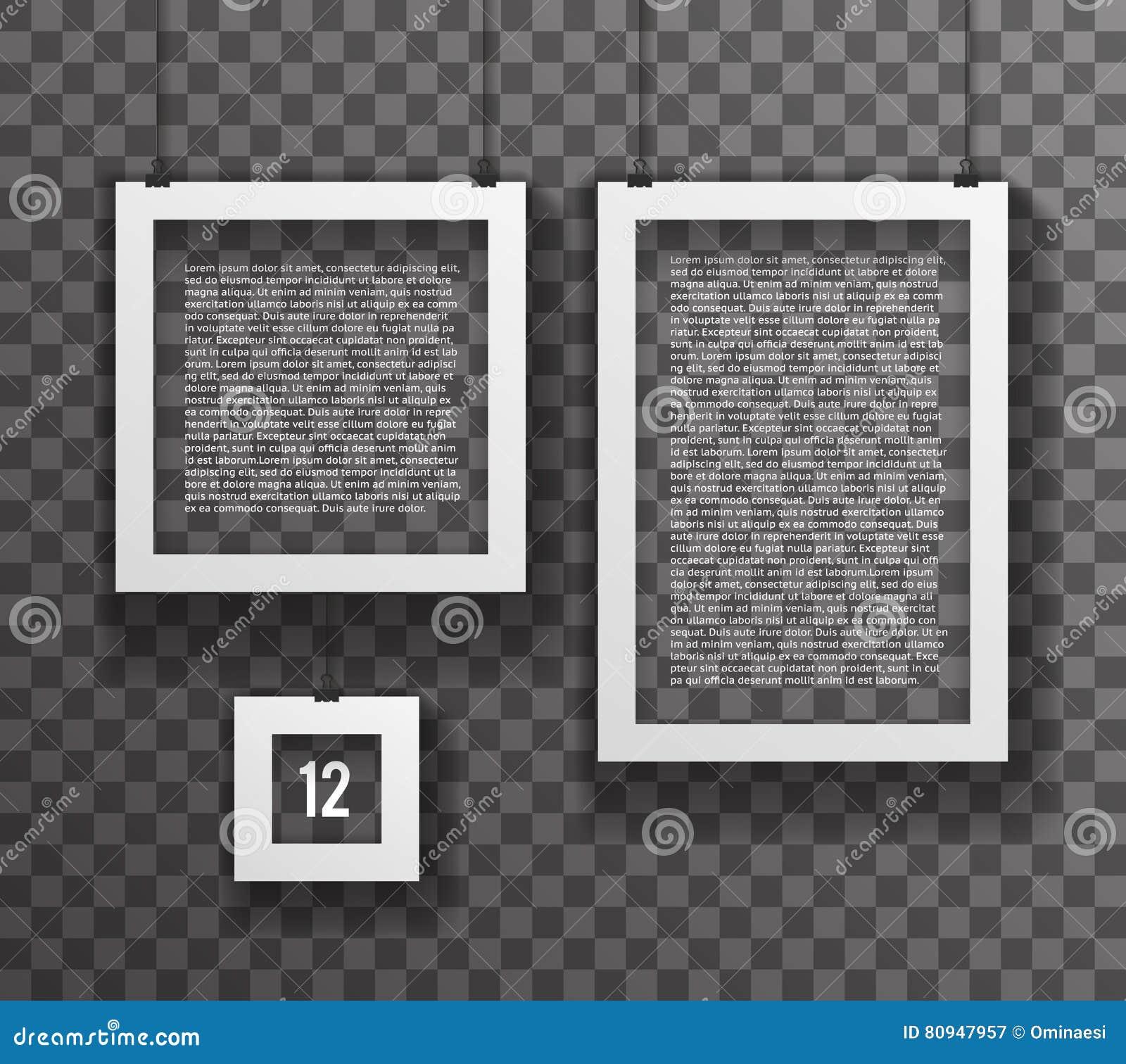 Rahmen-große Kleine Realistische Text-Plakat-Papierikonen-gesetzte ...