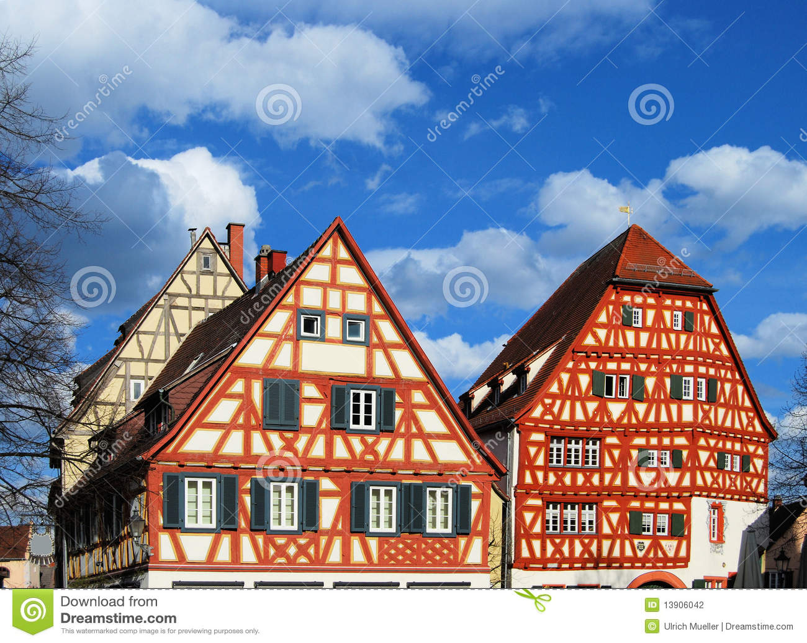 Rahmenhäuser stockfoto. Bild von haus, deutsch, haupt - 13906042