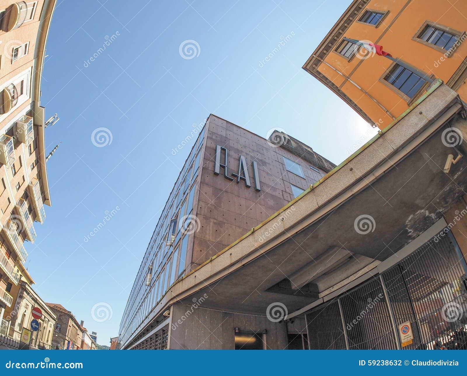 Rai vía Verdi en Turín