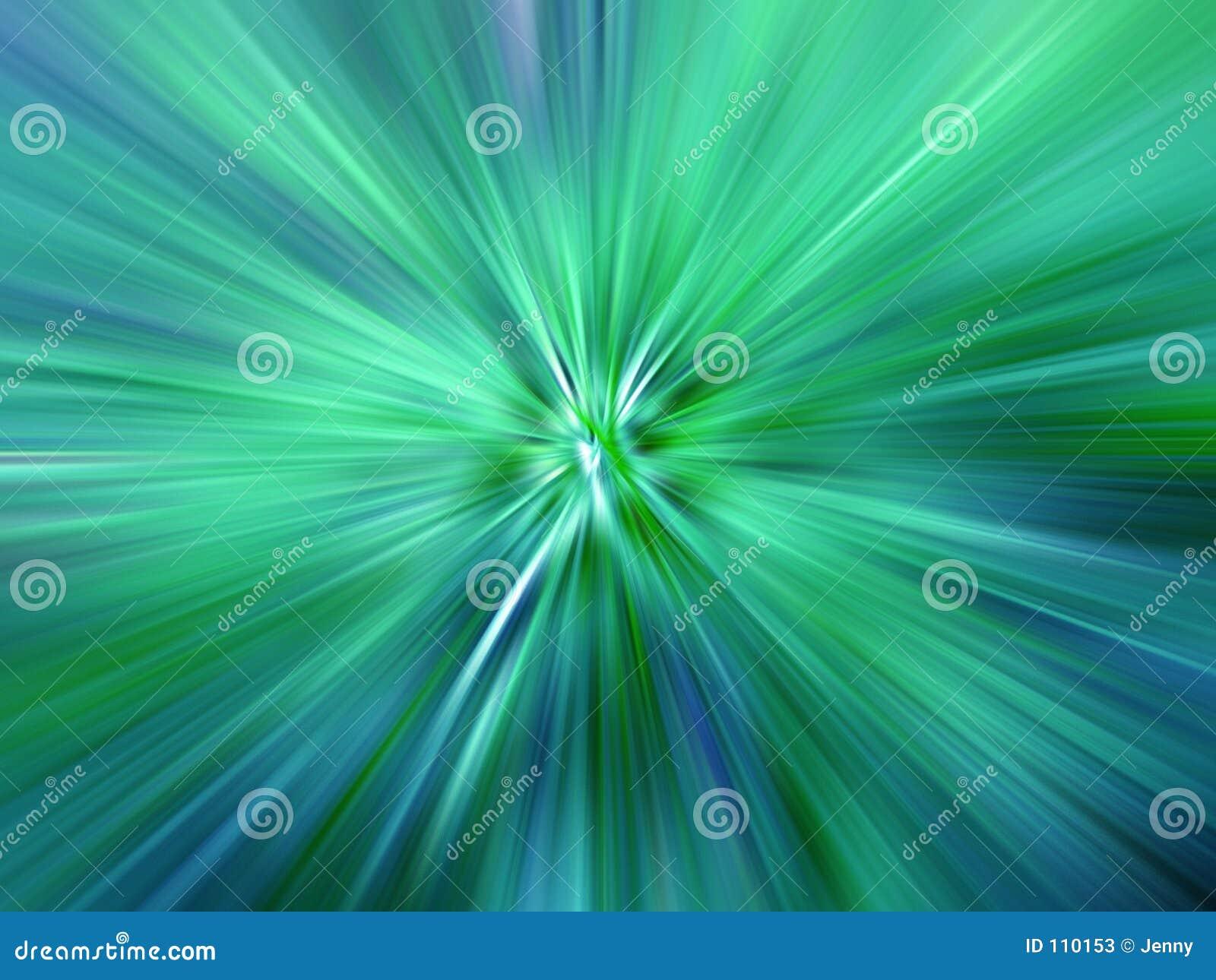 Raias da luz colorida